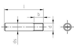 Technical drawing DIN 427 A1 (1.4305)