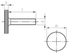 Technical drawing DIN 653 A1 (1.4305)