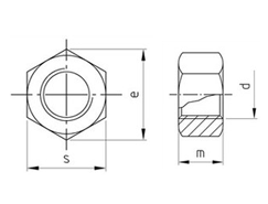 Technical drawing ISO 4032 A2