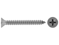 Cross recessed countersunk head tapping screws