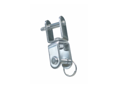 Jaw and jaw flat swivel shackle